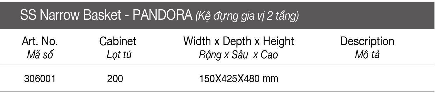 Thông số Kệ đựng gia vị 2 tầng - inox bản