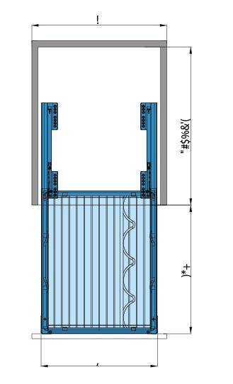 bản vẽ Kệ đựng gia vị 3 tầng - inox lưới