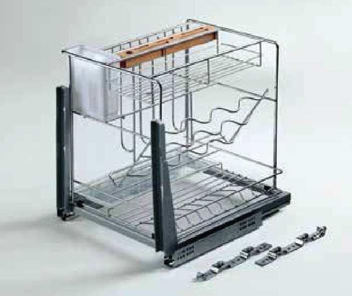 Một góc Kệ đựng gia vị - Tủ 450mm - inox lưới