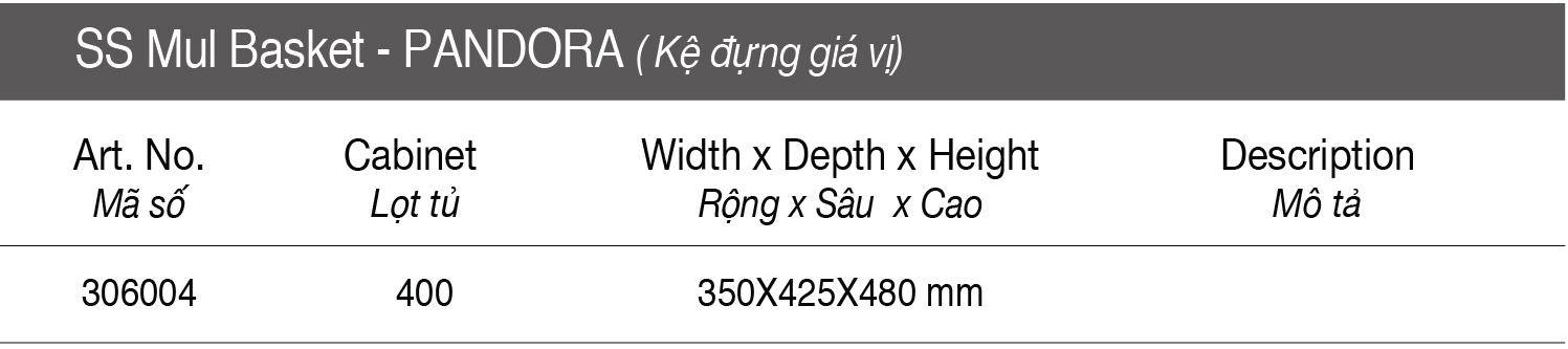 Thông số Kệ đựng gia vị 3 tầng - inox bản