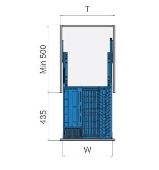 Bản vẽ Kệ đựng gia vị - Tủ 450mm - inox lưới