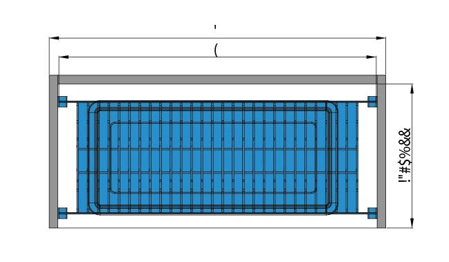 Bản vẽ Kệ úp chén đĩa 2 tầng pát treo