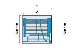 Bản vẽ Kệ kéo tủ 2 tầng - 500mm
